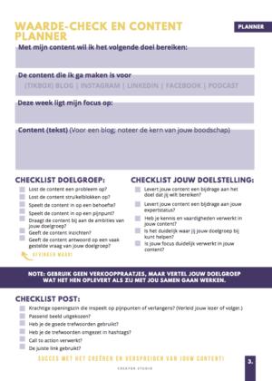 Checklist weggever